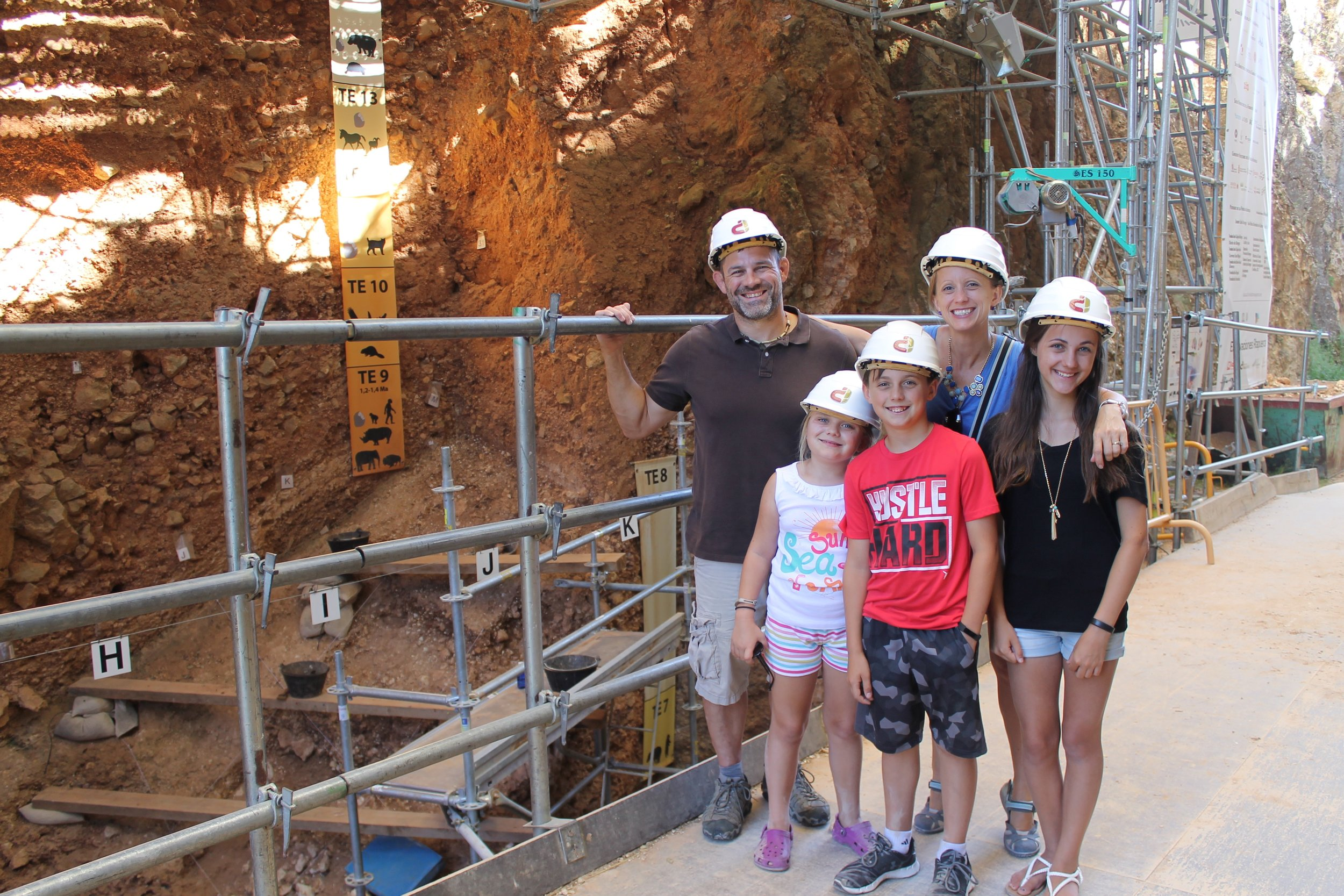 Visiting caves in Spain