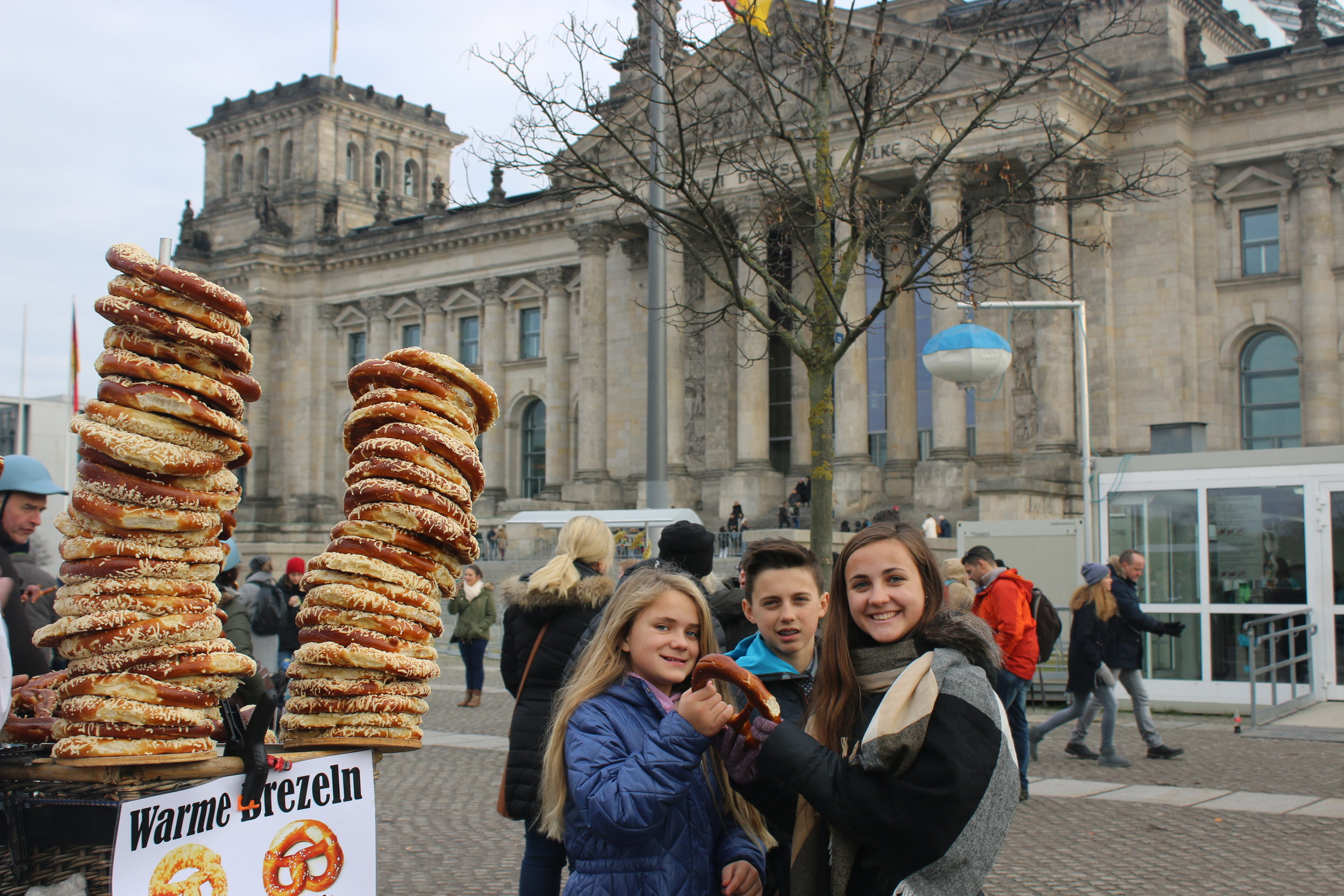 Warm pretzels from a street vendor are the absolute best!