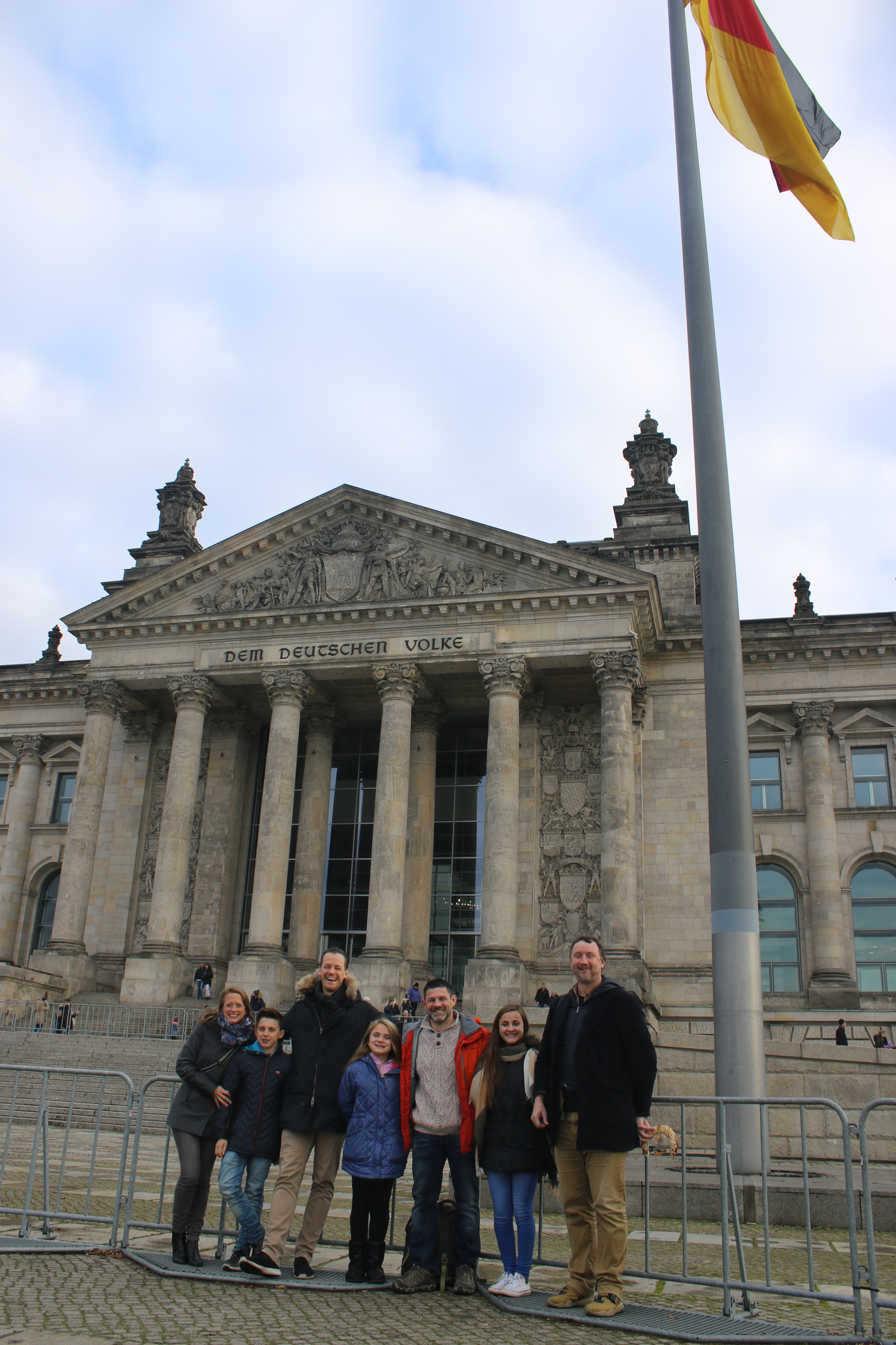Group photo in front of the Reichstag building