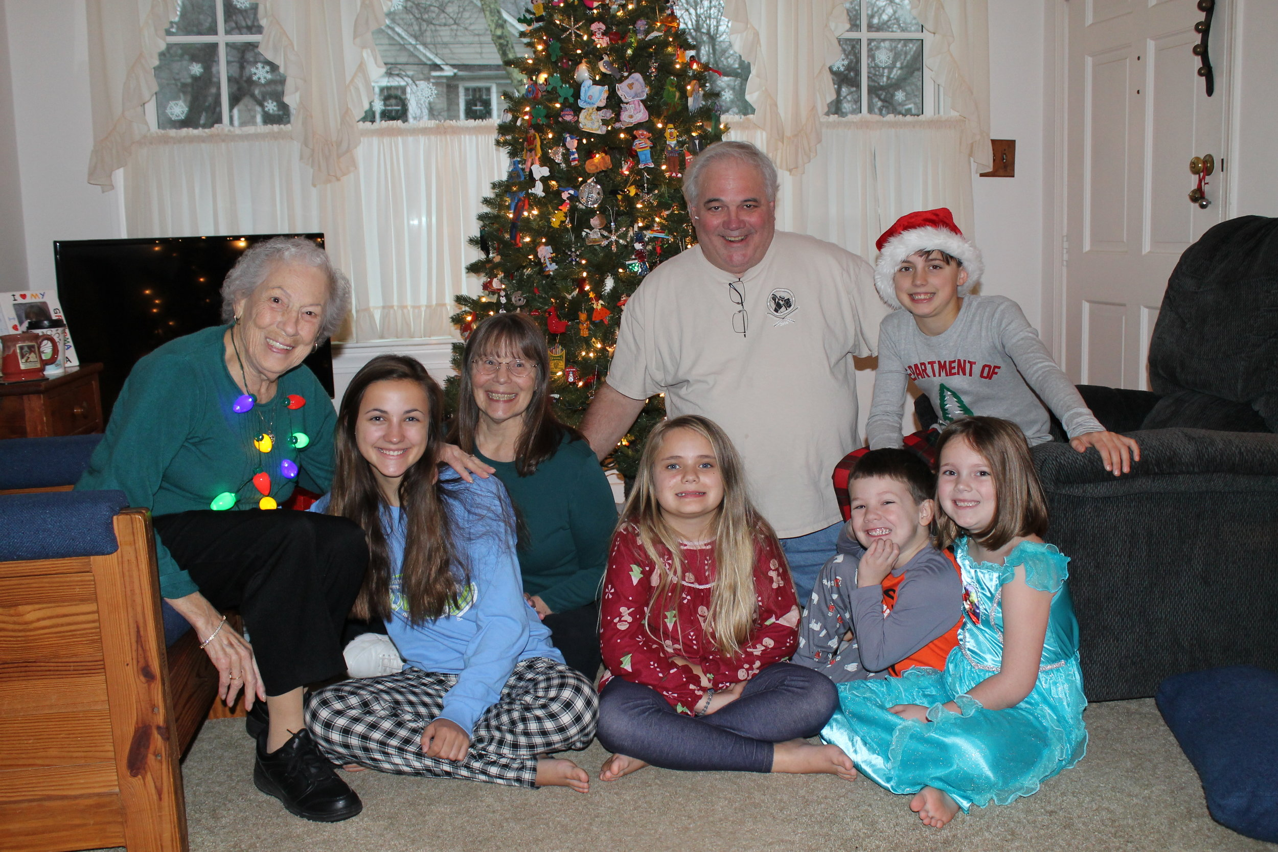 Our 2016 Christmas Eve Grandparent/Great-Grandmom Cousin Picture
