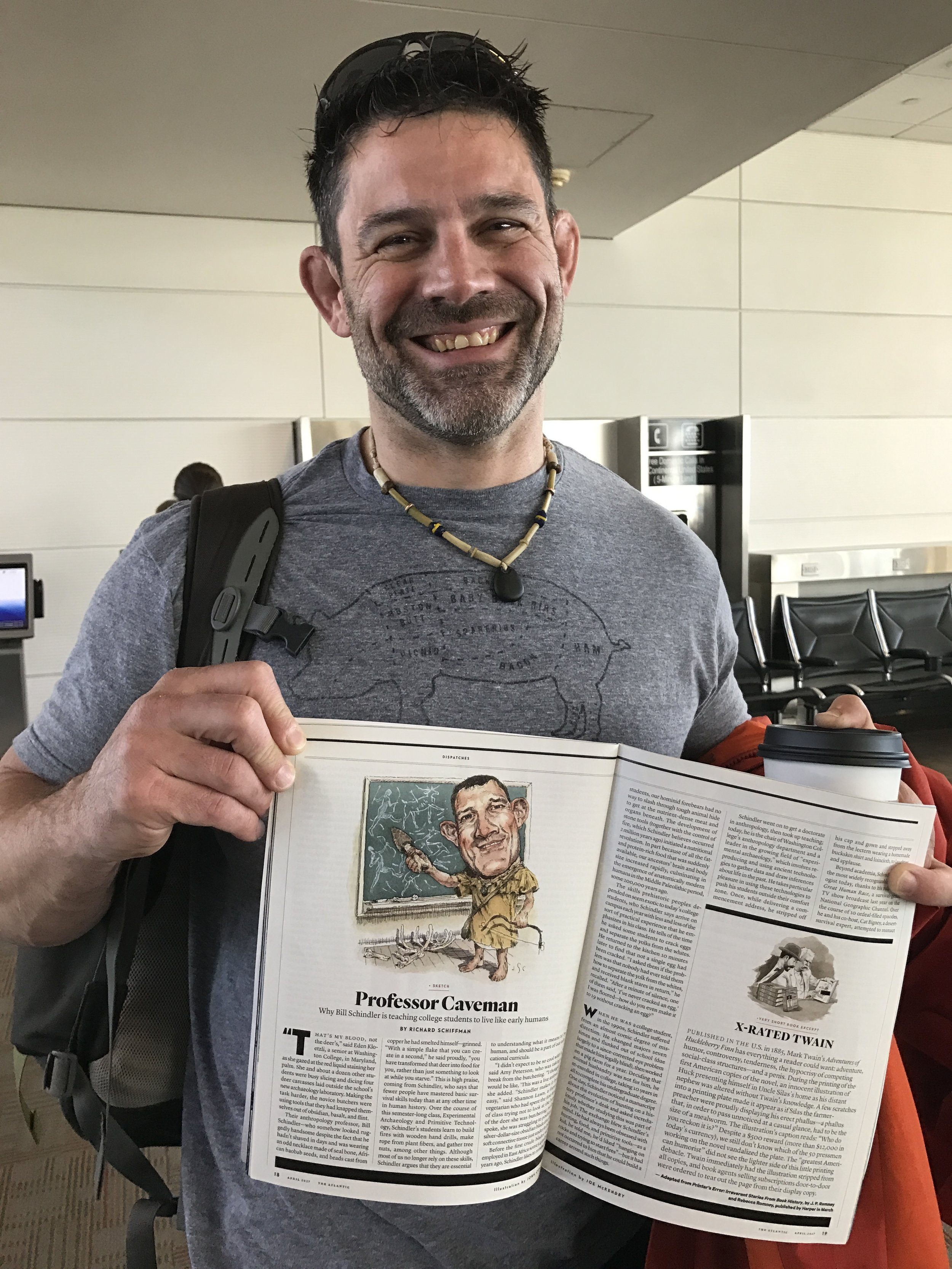 Finding The Atlantic Article in the airport on our way to Disney World!