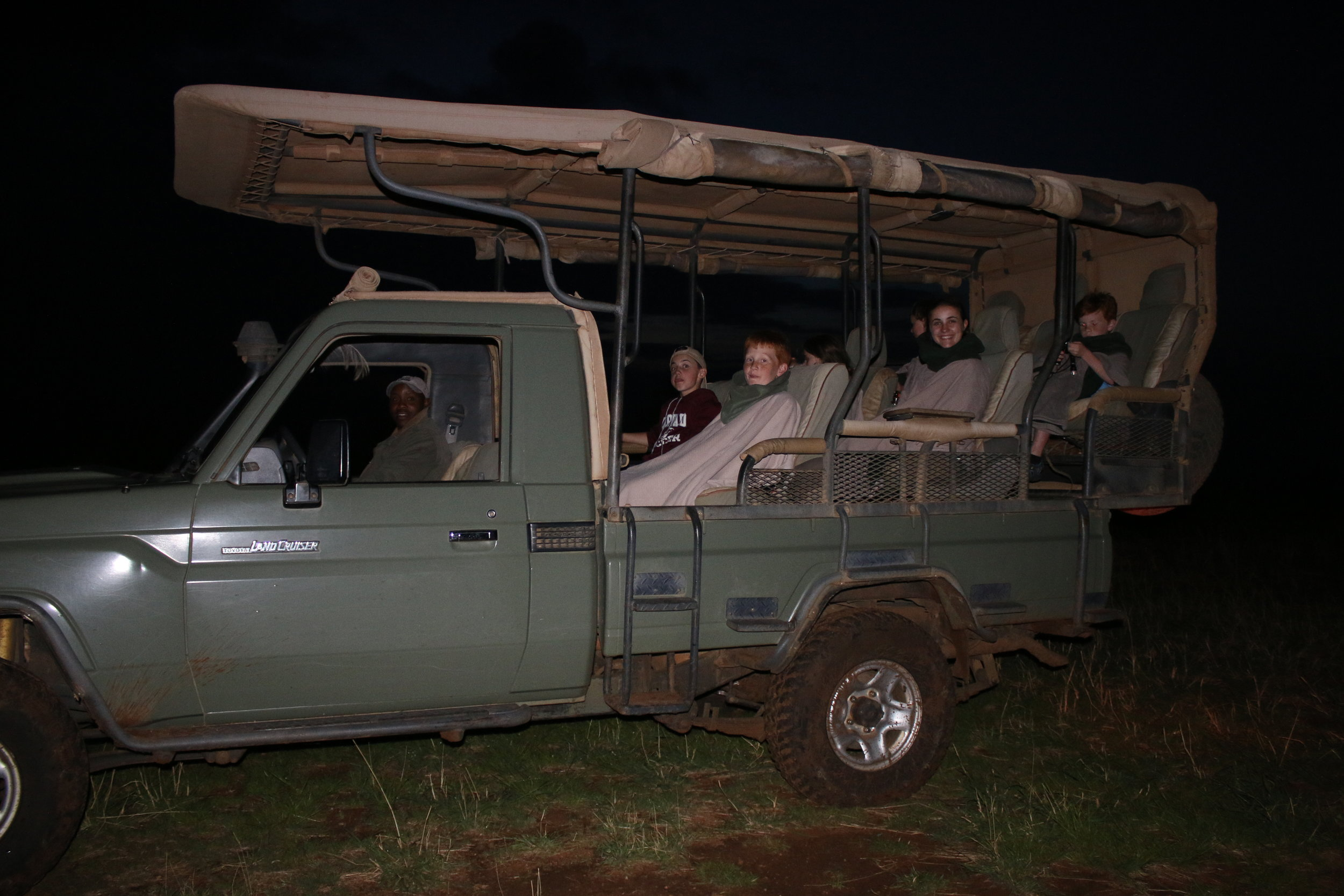 Night Game Drive with Rufus