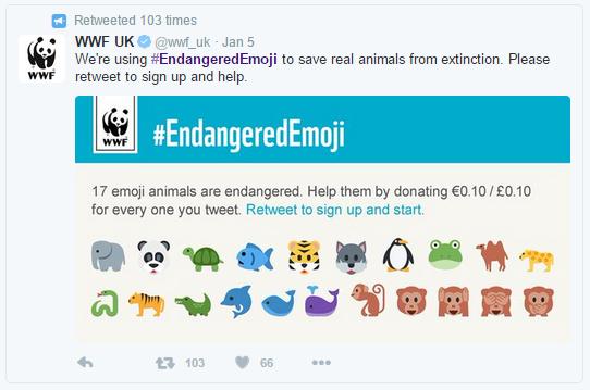 WWF uses emoji to engage audiences and inspire philanthropy.