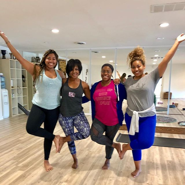 Hello December! Feeling some after class morning bliss.🧘🏾‍♀️✨🧘🏾‍♀️✨🧘🏾‍♀️✨🧘🏾‍♀️ Check out our link in the bio to access our class schedule. . . . #yogaeverywhere #sandiegoyoga #yoga #lemongrove #sdyoga  #yogacommunity #californiayoga #yogalife #yogaforall #yogaforeverybody #igyoga #igyogacommunity #namaste #yogapractice #colorsofyoga #shadesofhealth #melaninandyoga #blackgirlsrock #blackgirlyoga #blackyogini #yogapath #yogisofcolor #namaslay #blackyogasuperstars #blackownedyogastudio #blackownedbusiness #yogapractice #balance