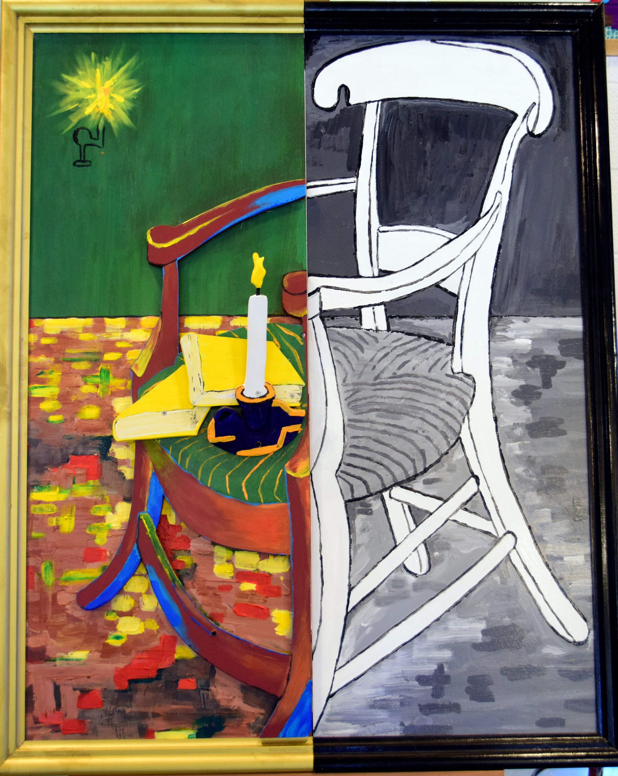 Chair, after van Gogh, by Pete Majendie, Christchurch, Aotearoa New Zealand