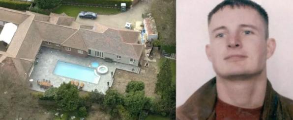 Left, Michael Barrymore's house. Right, Stuart Lubbock.