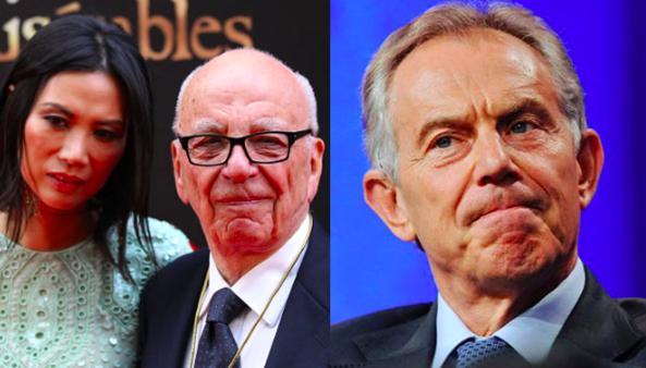 'Affairs of state': l-r - Wendy Deng, Rupert Murdoch, Tony Blair