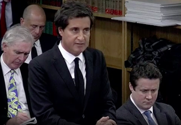 Claimants' barrister David Sherborne, at the Leveson Inquiry into Press practices and ethics