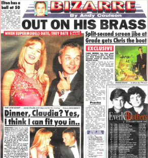 Bizarre defence: Ross worked with Andy Coulson on The Sun showbiz column