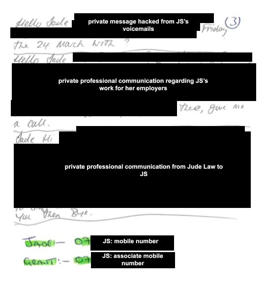 Long hand: transcript of voicemails