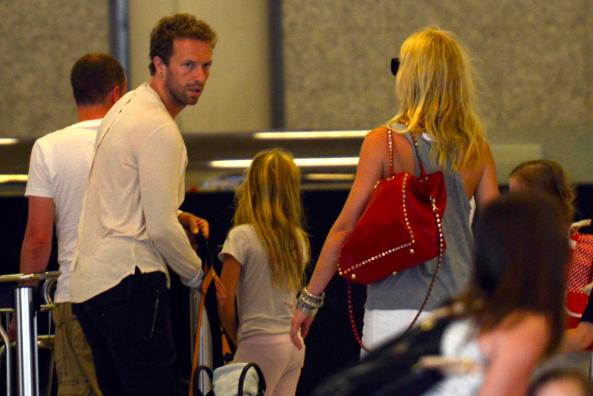 Chris Martin (l) and Gwyneth Paltrow (c) PA
