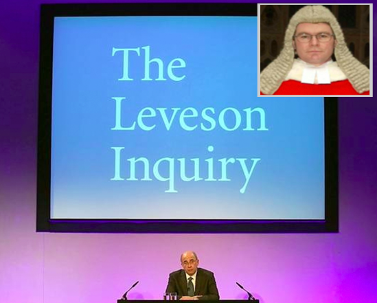 Leveson Inquiry (inset, Mr Justice Mann)