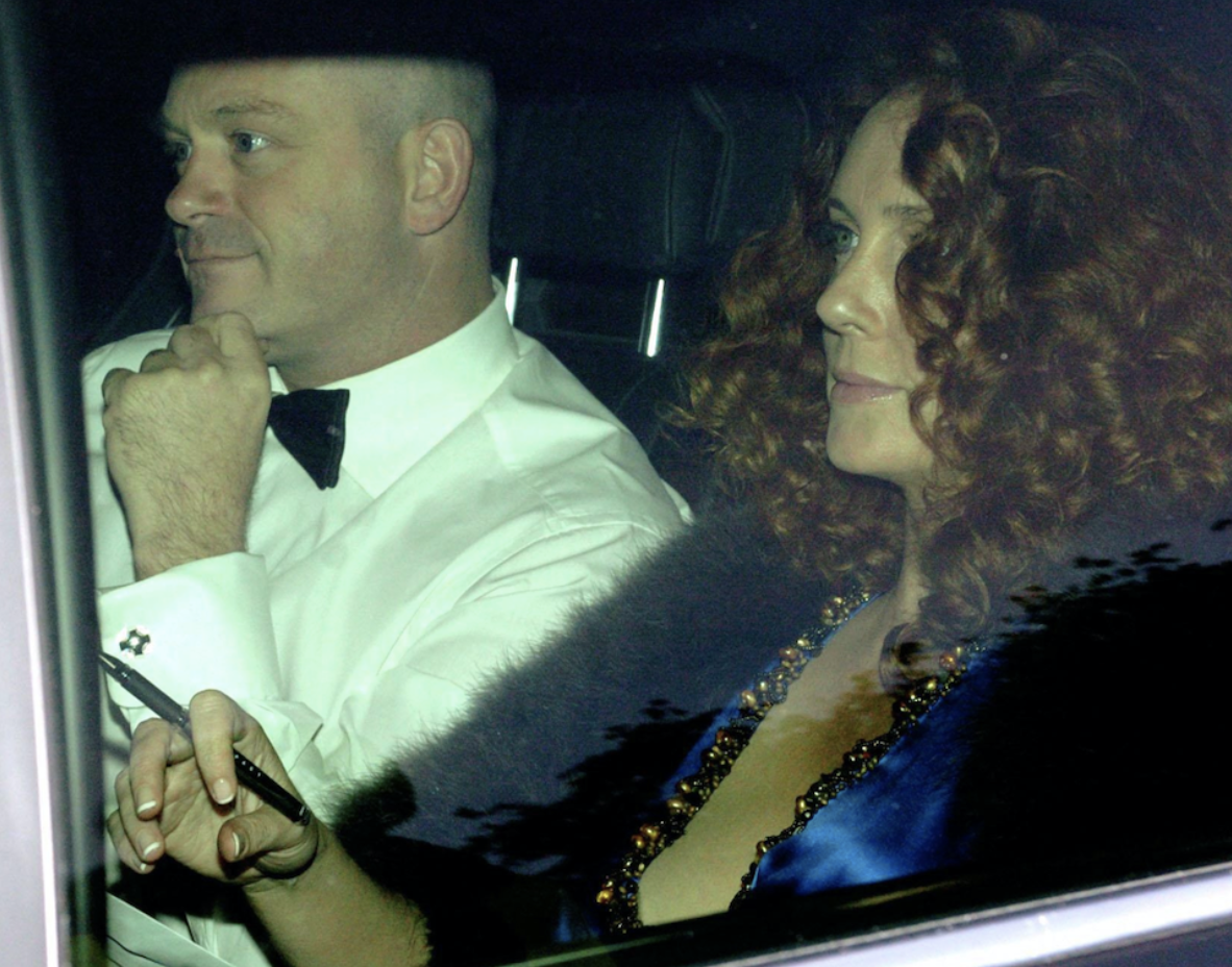 Accused: Rebekah Brooks, with Ross Kemp - the former partner she is said to have spied upon (c) Chris Radburn/PA Archive/PA Images