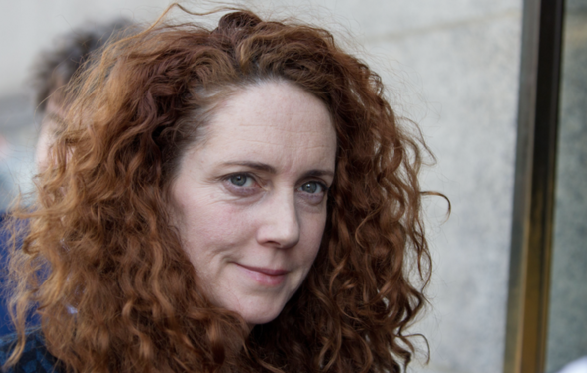 Serving: former Sun and News of the World Editor Rebekah Brooks is still the Chief Executive of parent company News UK, formerly known as News International, pictured here outside the Old Bailey in 2014 (c) PA