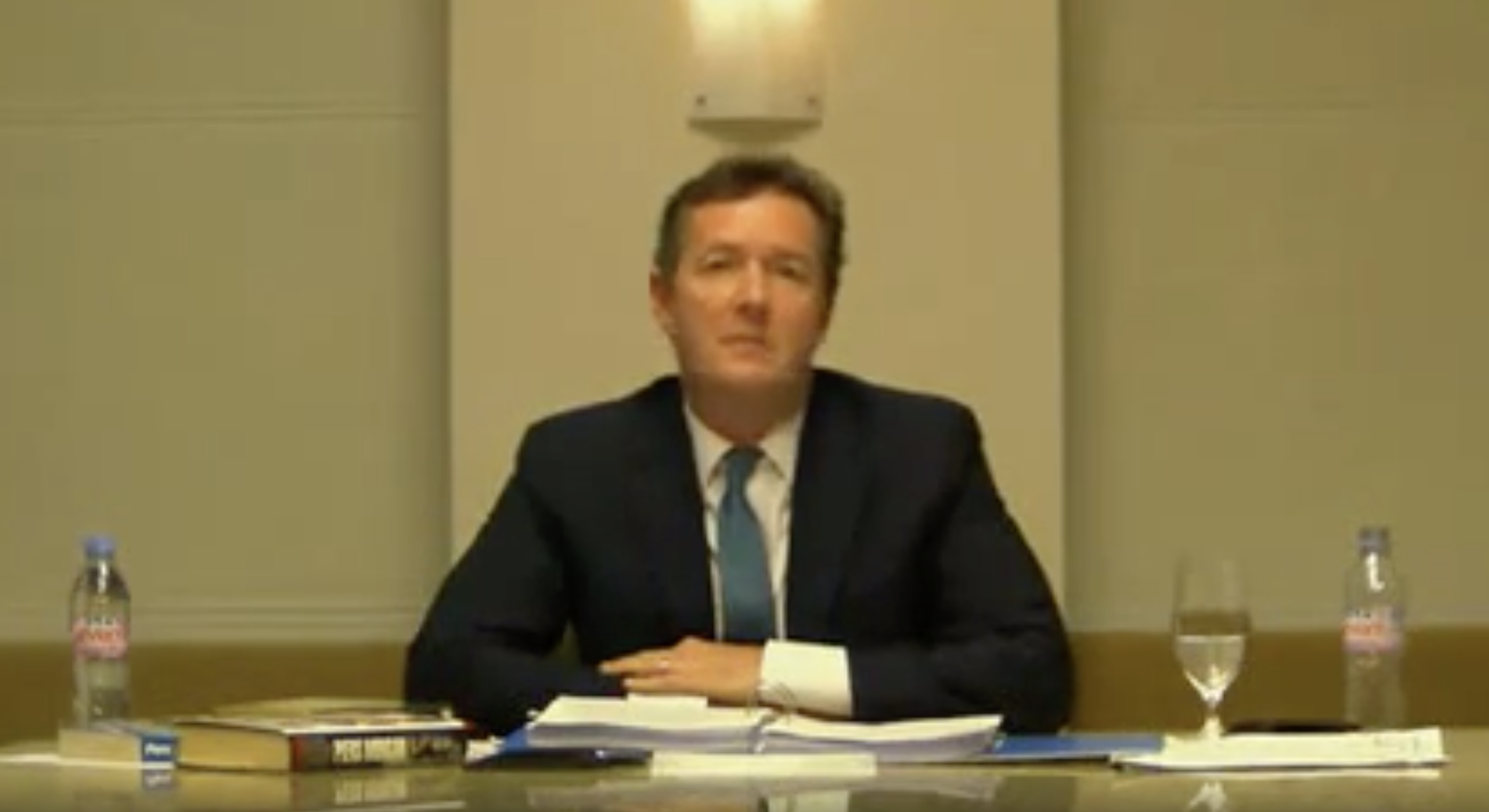 Denials: Piers Morgan denied knowledge of wrongdoing at the Leveson Inquiry in 2012.