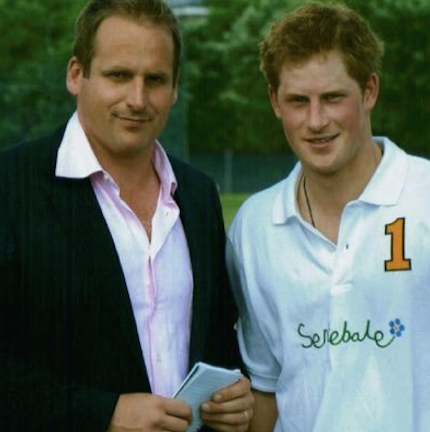 Duncan Larcombe with a more youthful Prince Harry (c) Twitter @DuncanLarcombe