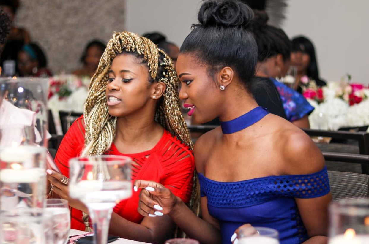 Stacy Ike and Guest at the VIP Dinner. Photo by @lovethatgirlbre