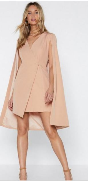 Nasty Gal Cape Dress- $50