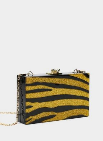 Nasty Gal Tiger Clutch- $28