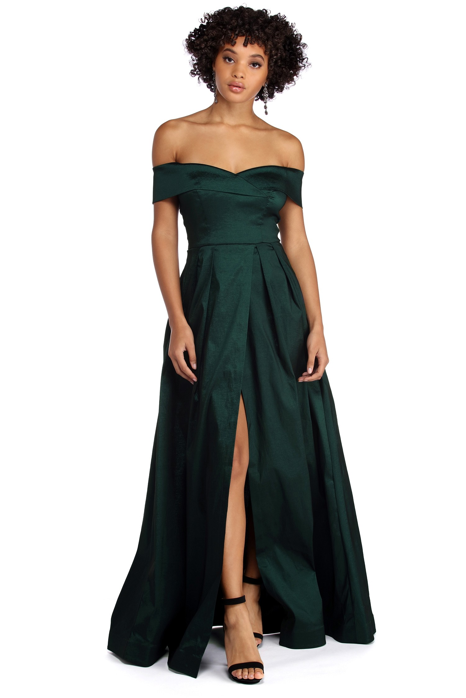 Windsor Maci Off The Shoulder Gown- $79