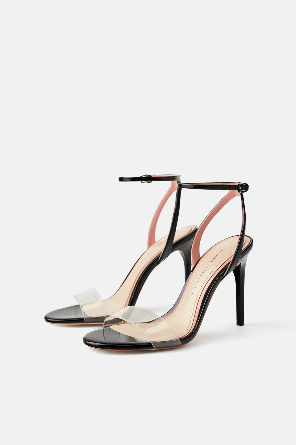 ZARA High Heeled Vinyl Shoe- $49.90