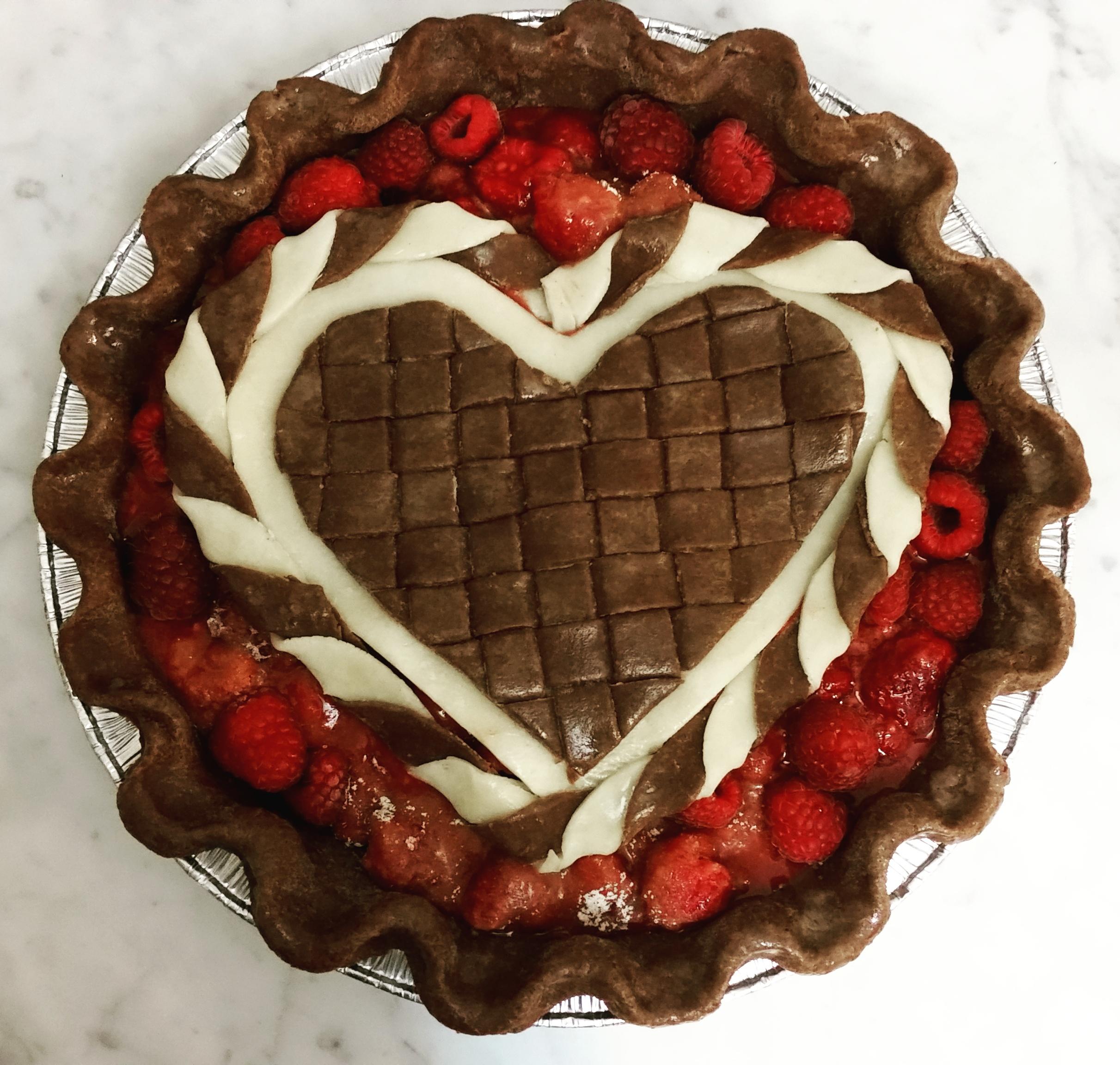 Raspberry Pie with mixed dough