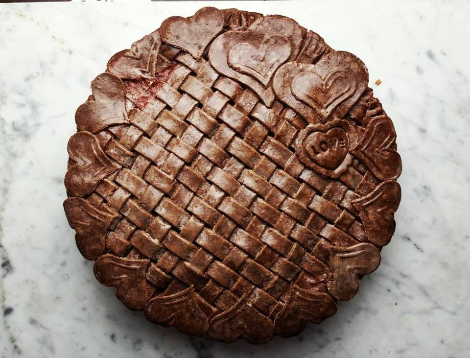 Strawberry Pie with Chocolate Crust