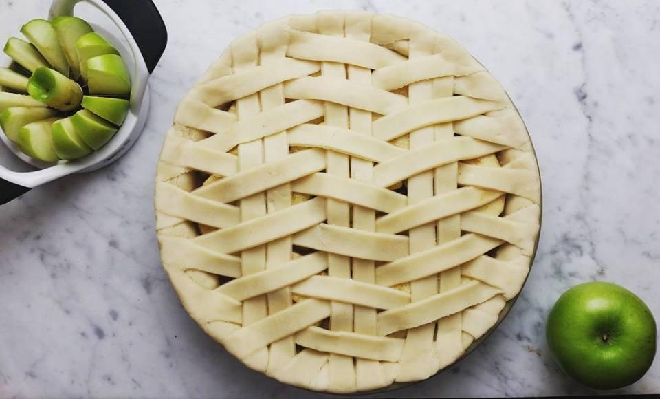 Pre-bake shot of Apple Pie