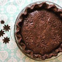 Cherry Pie with chocolate crust
