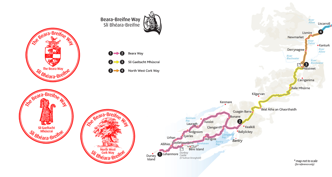 Stage 1, Beara Breifne Way (with stamps)
