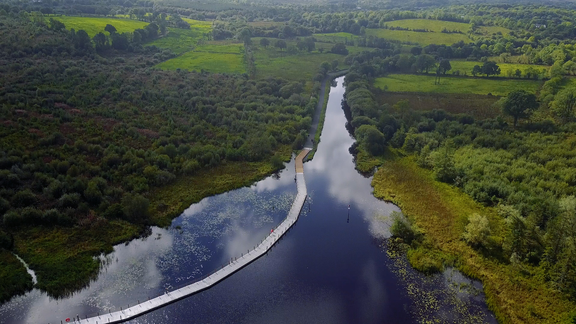 The floating boardwalk in Leitrim   was a sight to behold when we walked there, making up our own little version of the Leitrim Way. This video isn't exclusively flying shots, but the introduction is still pretty good!