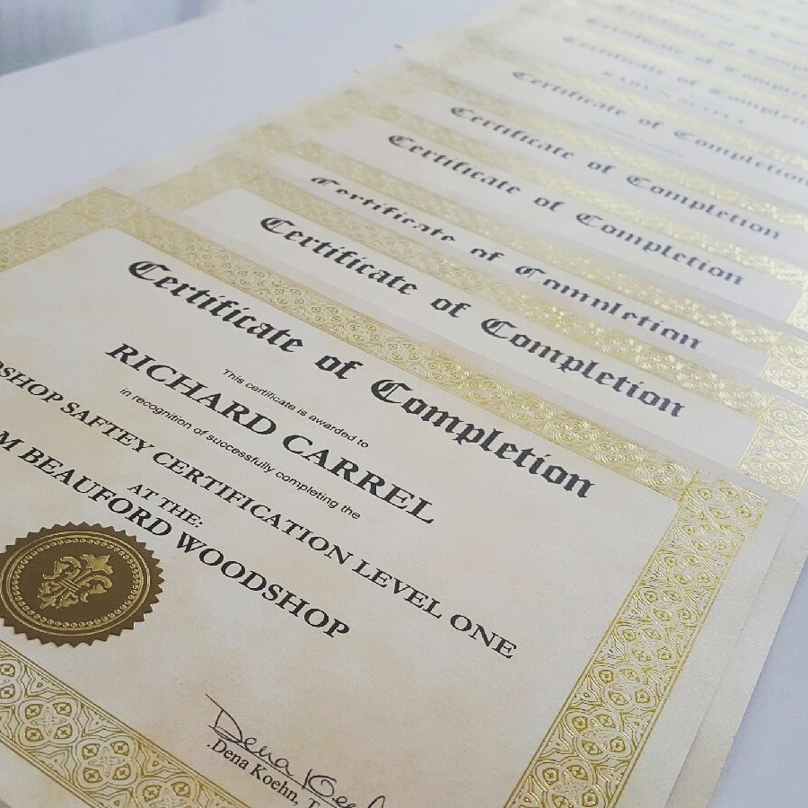 Woodshop Safety Certification Course