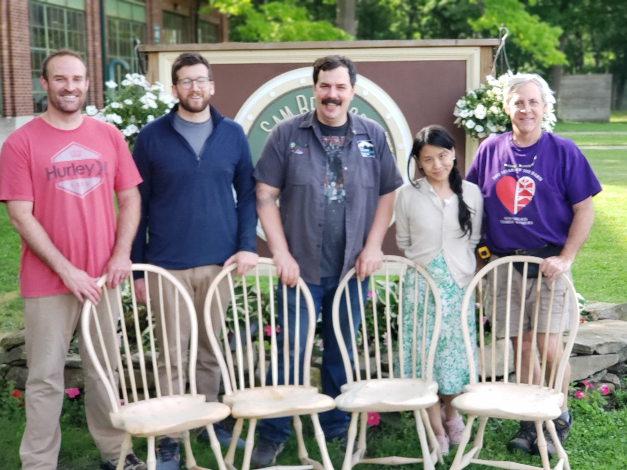 Windsor Chairmaking Classes with Luke A. Barnett at the Sam Beauford Woodworking Institute