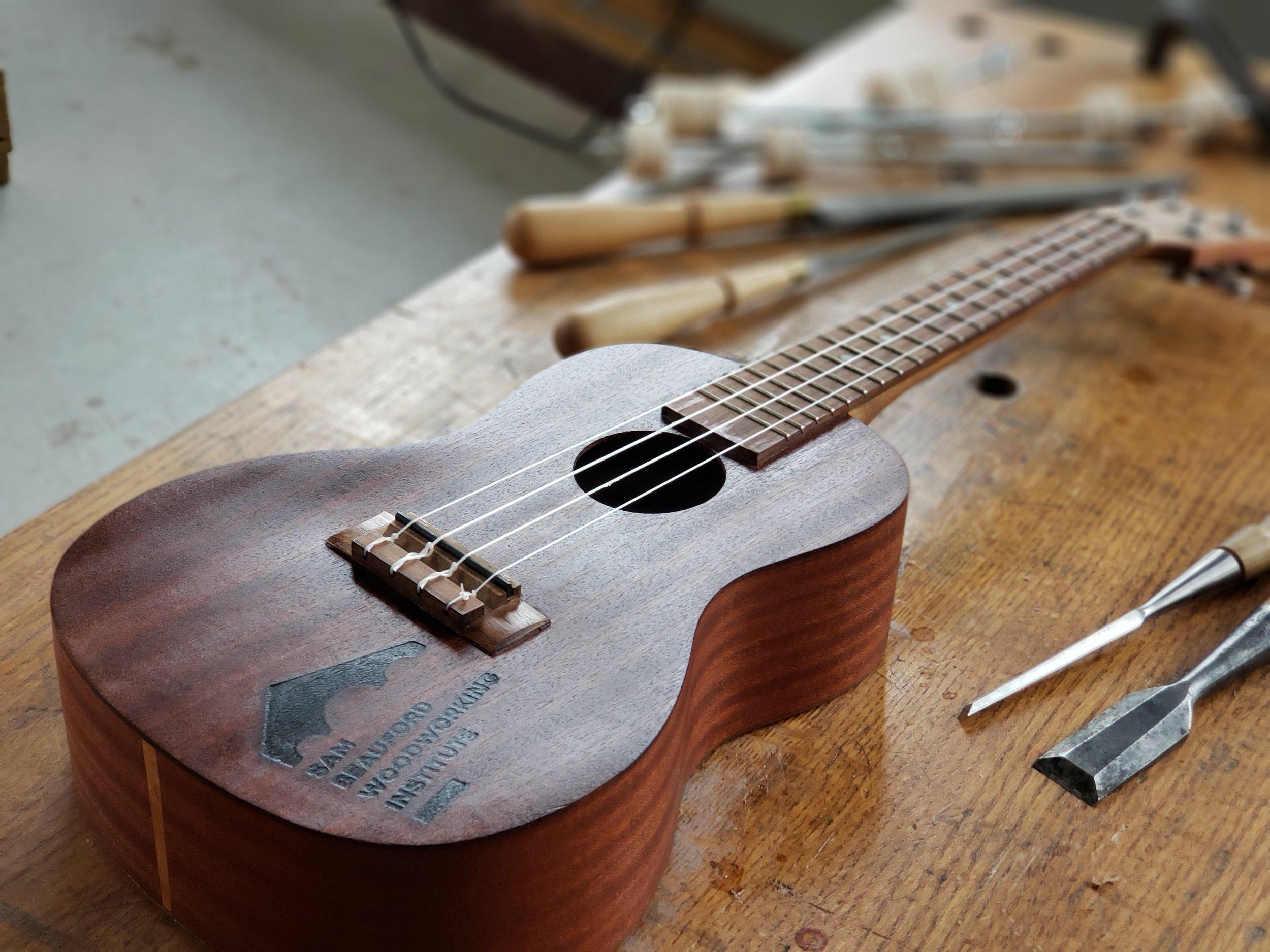 Build a Concert Ukulele Woodworking Class - Instrument Classes