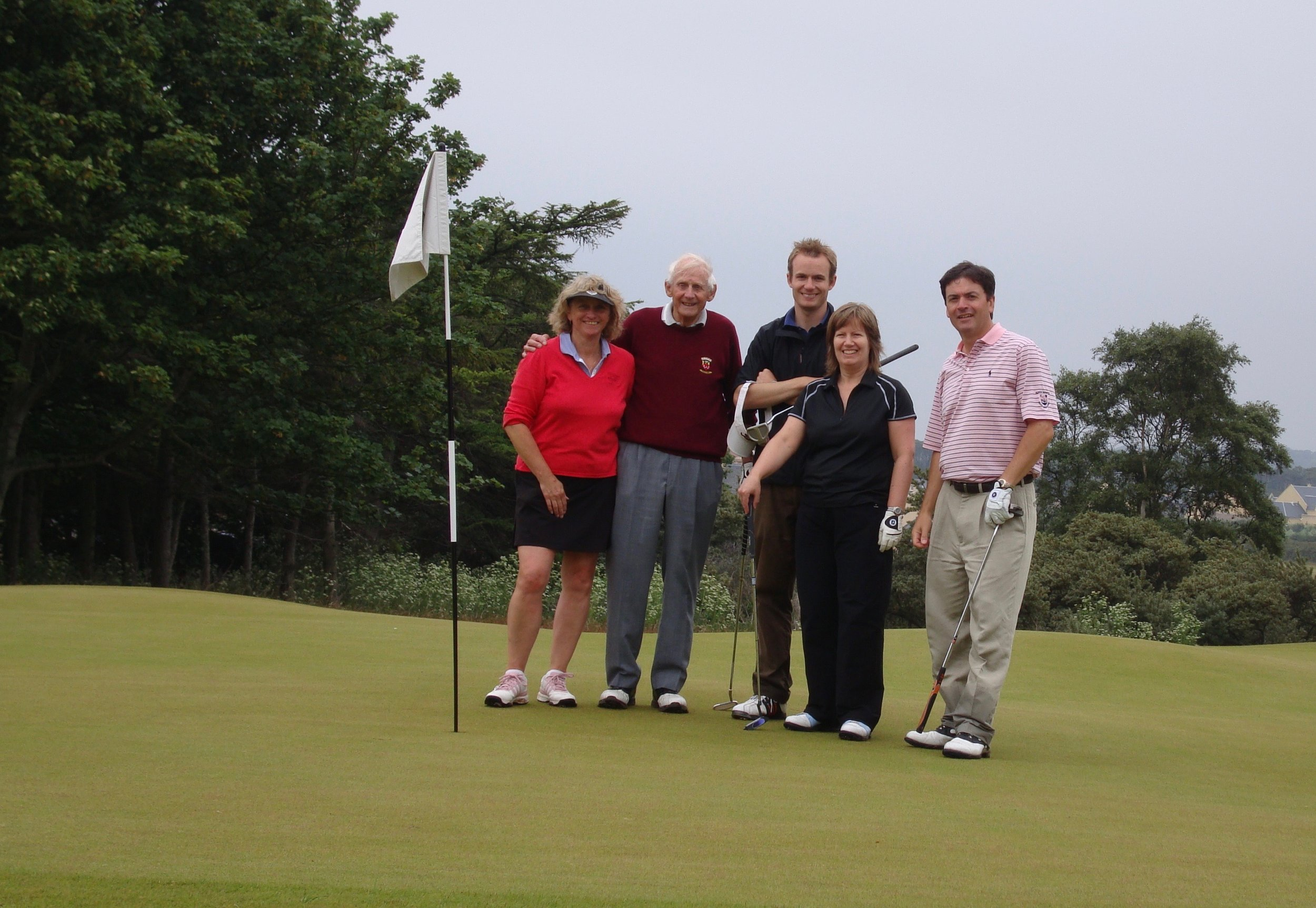 Gill, her dad Christopher, Michael, Cousin Pat and me. 2007 17th green.