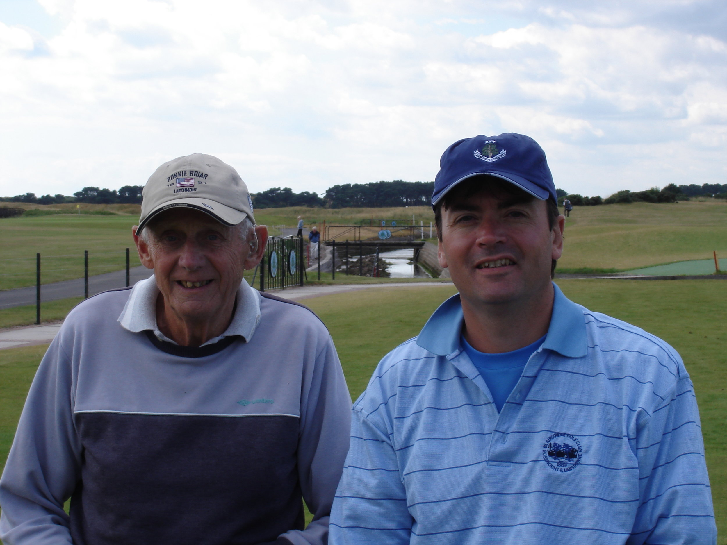 My father in law Christopher and me about to tee off. I played horribly but we had a great time.