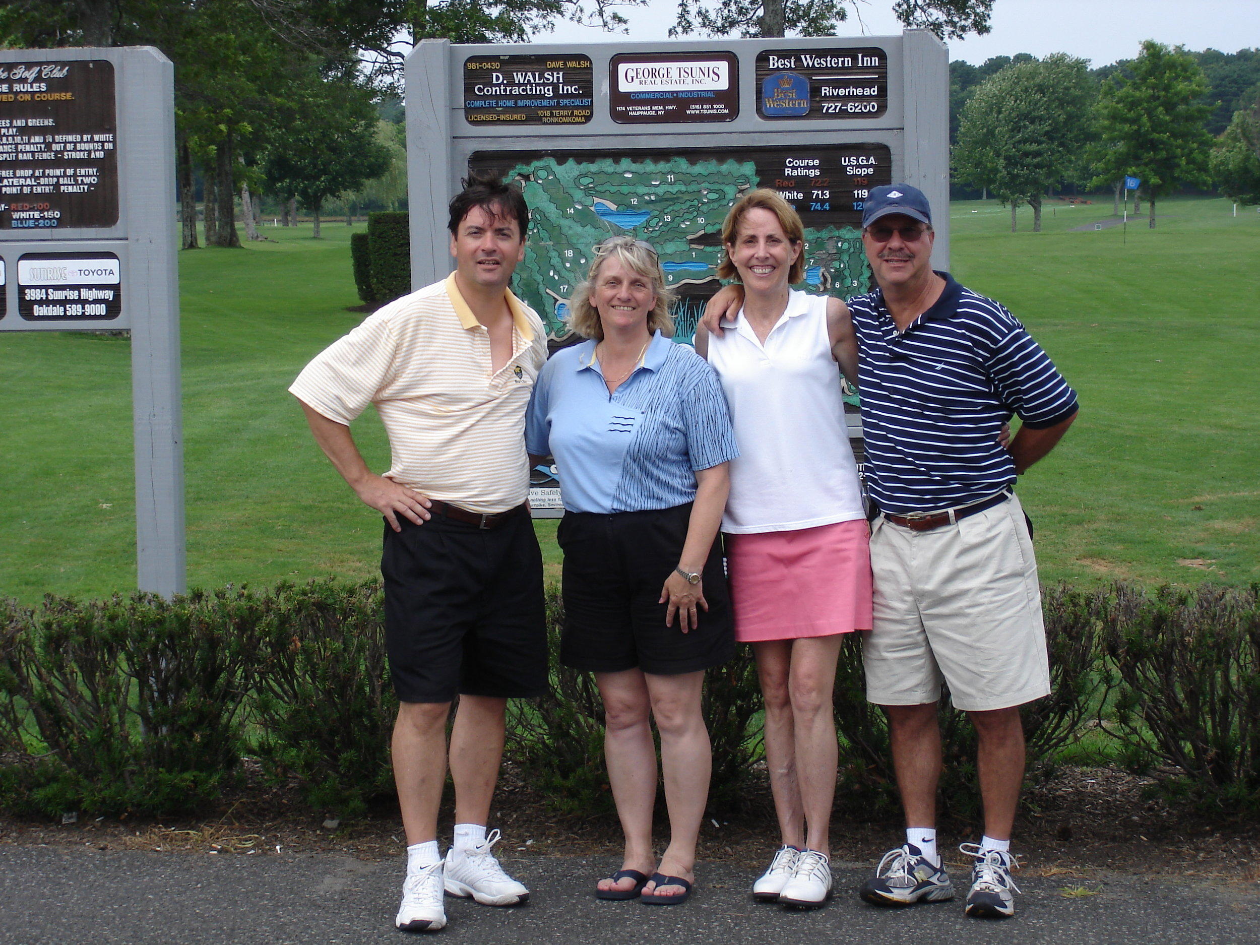 Us with Helen and Fred in 2005.