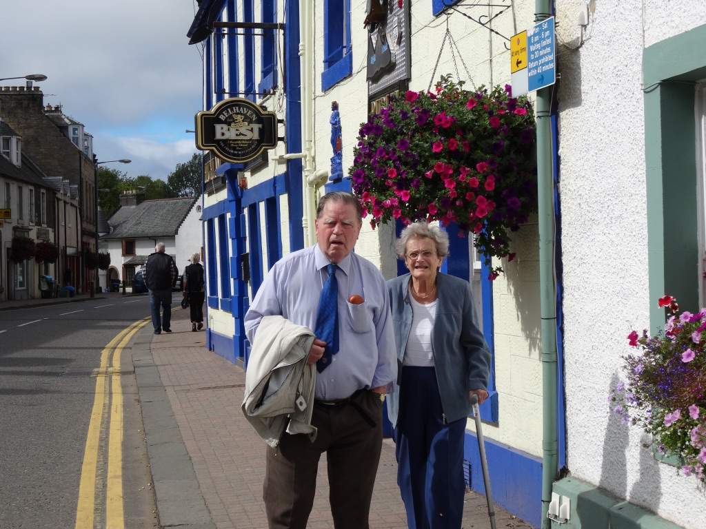 These are my folks, annoyed I think that I took this picture as it makes them appear to be coming out of a local pub…