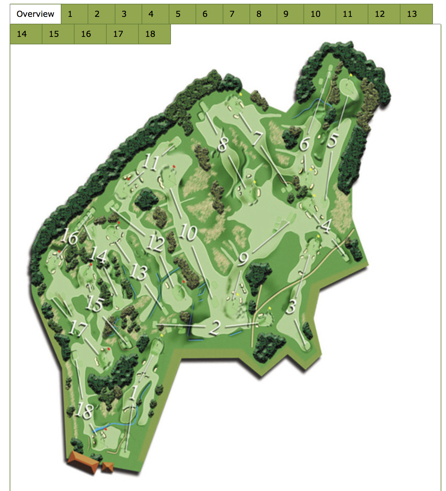 This is the map of the course. The guide is interactive and can be found at:  http://www.pitlochrygolf.co.uk/golf-course/