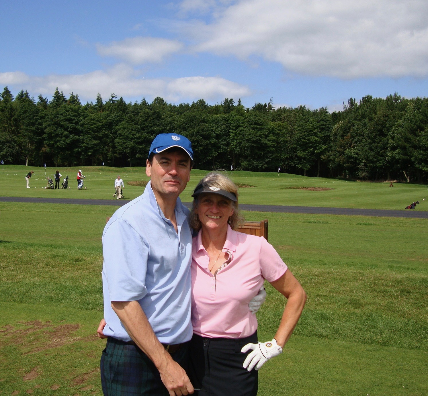 Gill and me at the practice grounds at Archerfield.