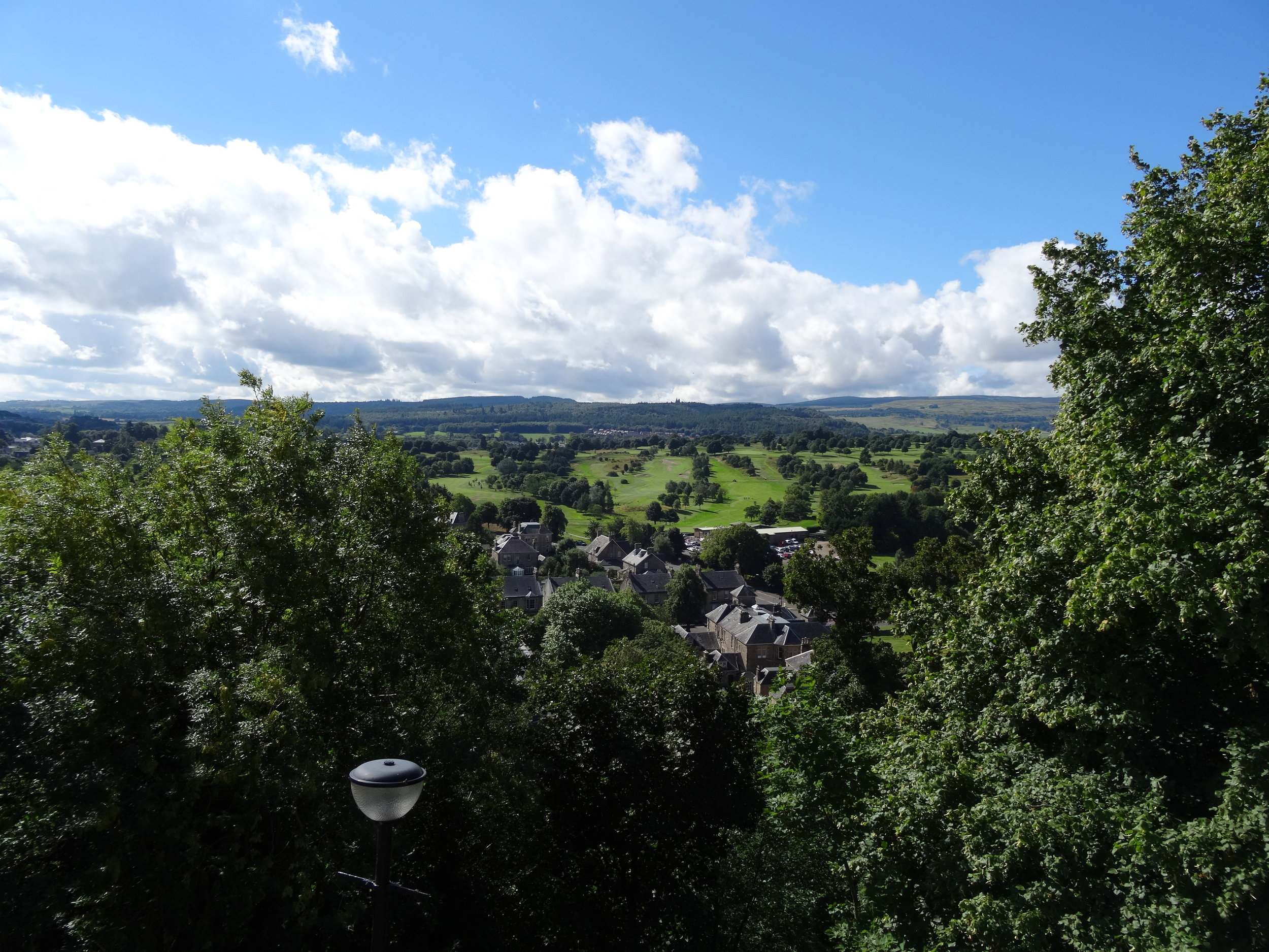 The golf course from the magnificent Stirling castle