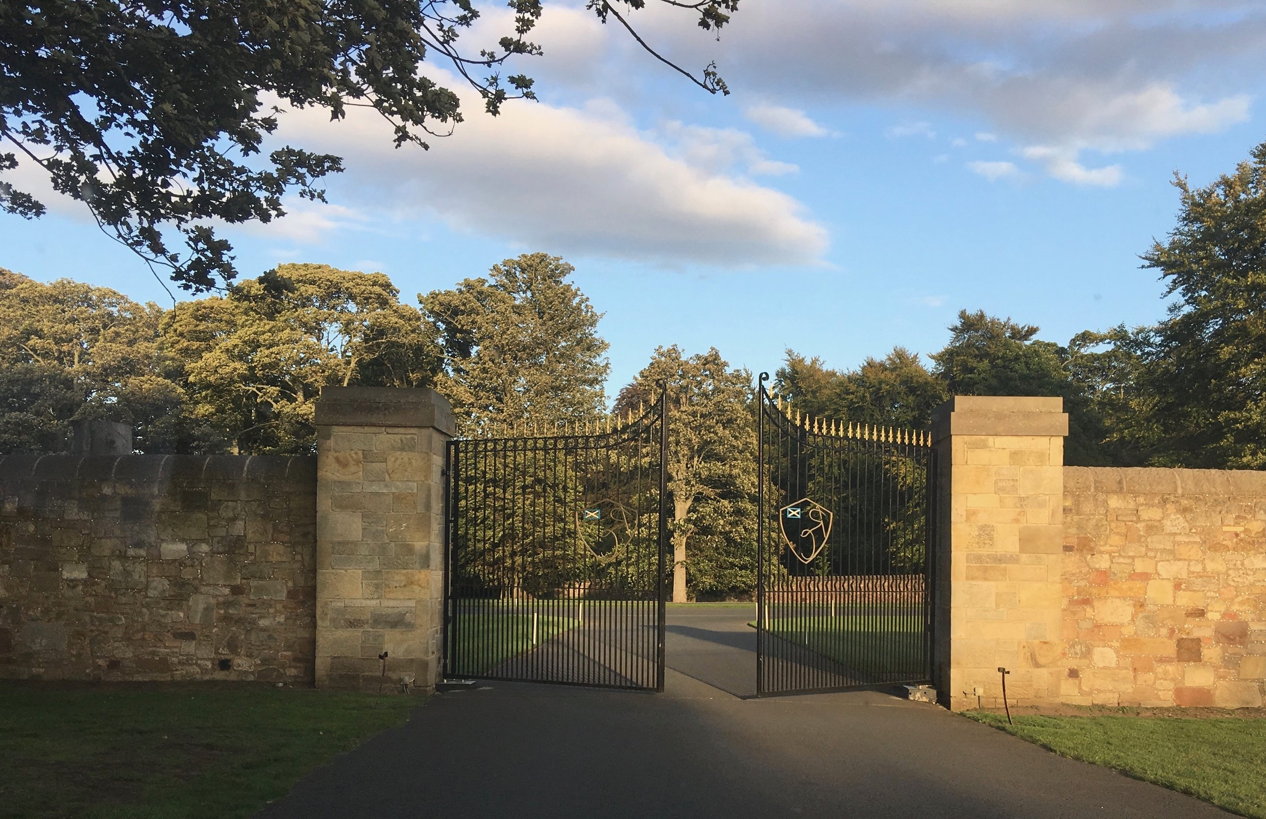 This is the impressive entrance. What awaits you is just one of the great golfing venues. The course is magnificent, and the Clubhouse and Lodges are just incredible.