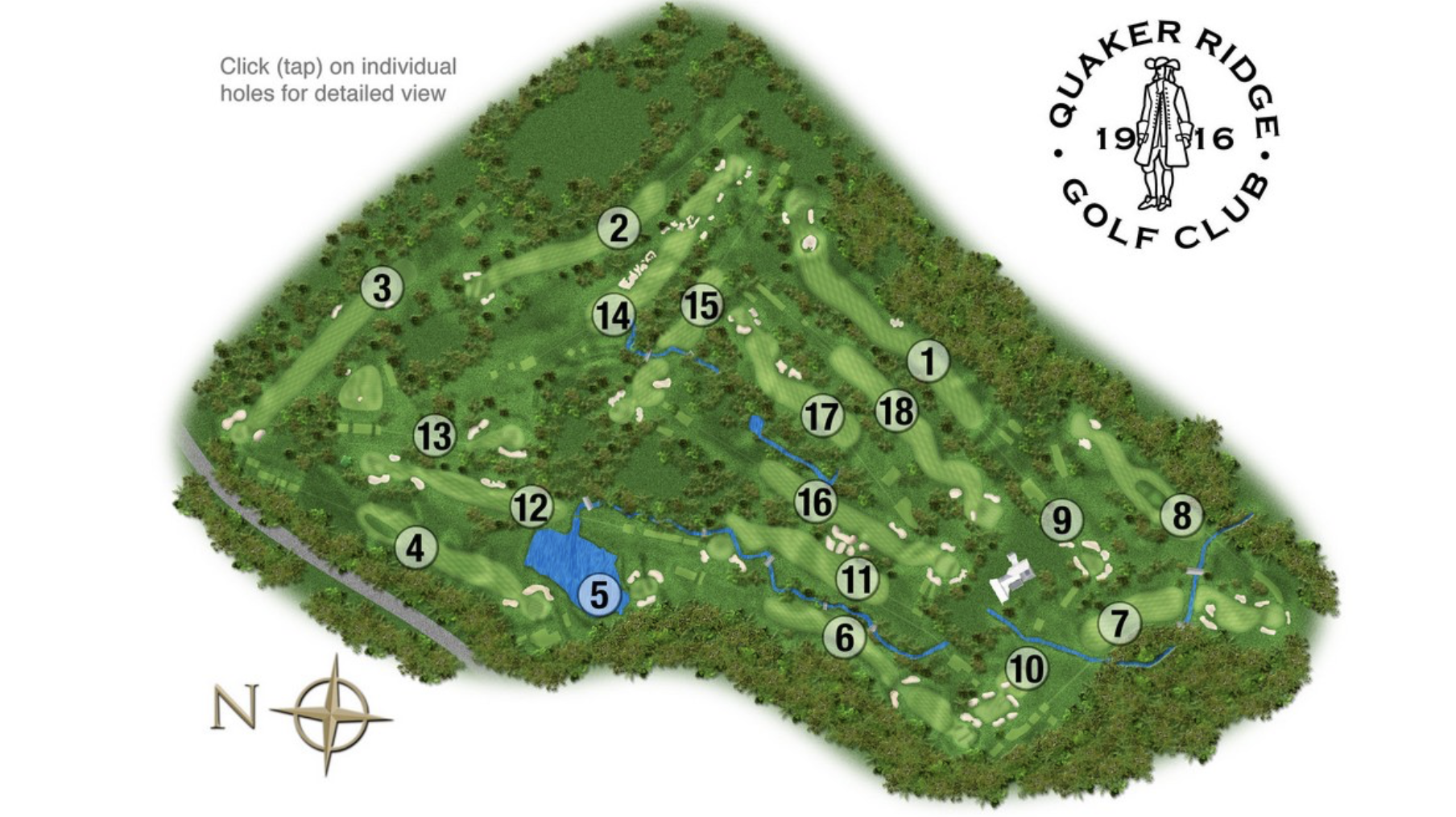 The course layout.