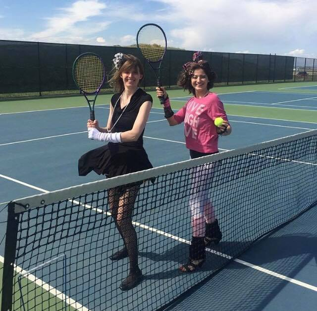 """HR Tennis Court Challenge for The Great Dash with team """"88 MPH"""""""