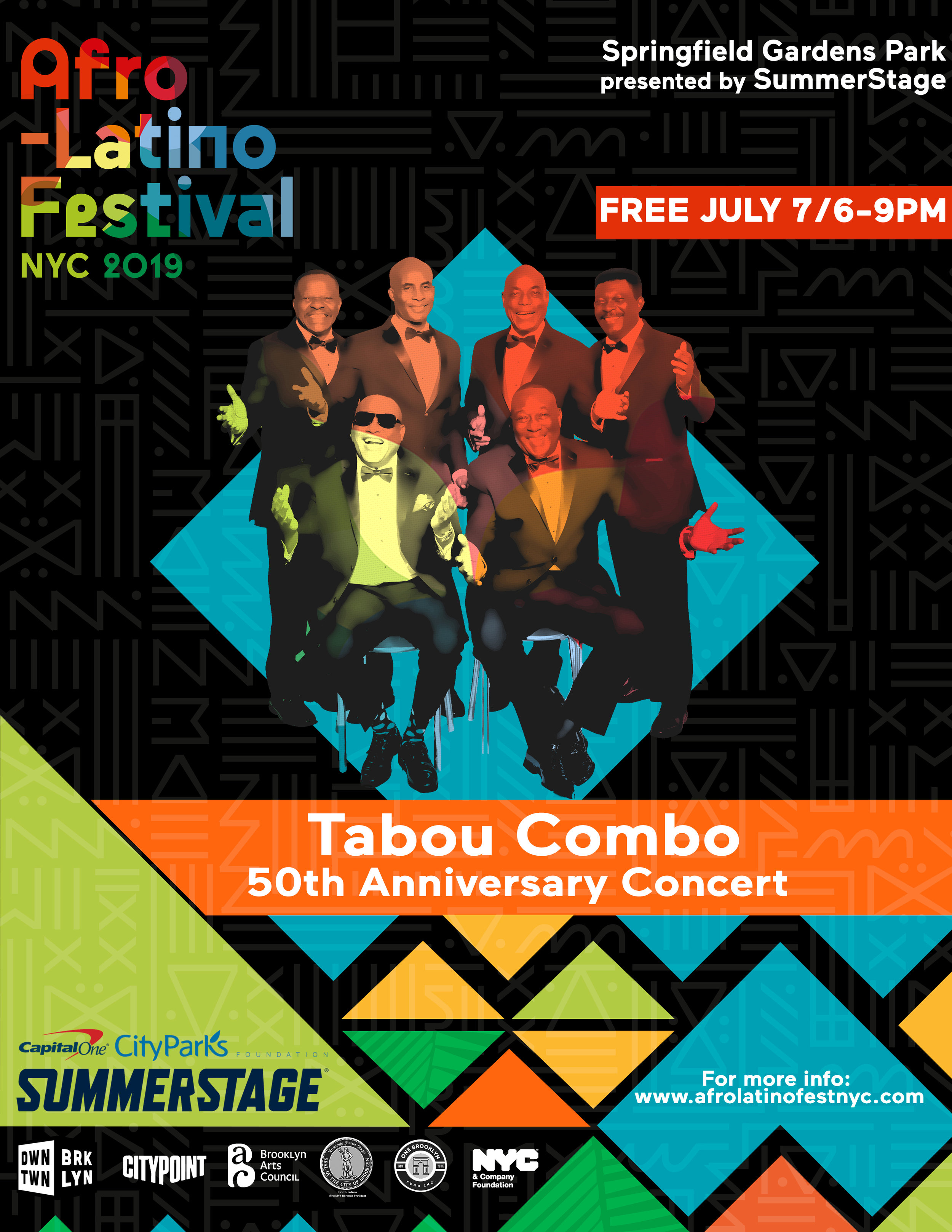 Pre-Festival Sunday with Legends - With scores of hits spanning generations Haiti's Tabou Combo are loved by many. Be sure to head out to Queens for this special performance along with Lakou Mizik and DJ Sabine Blaizin. We will have a limited number of specially priced July 12-13 tickets available for purchase on site.