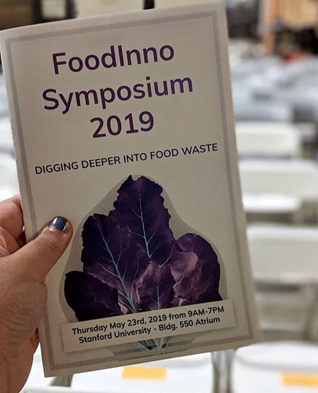 Excited to be @stanfordfoodinno learning about food waste issues . . #foodinnovation #foodwaste #foodinno #stanford #bayareafoodie #californiafood #madeinberkeley #cultcrackers #eatlocal #localfood #instafood #smallbusiness #eatsmart #glutenfree