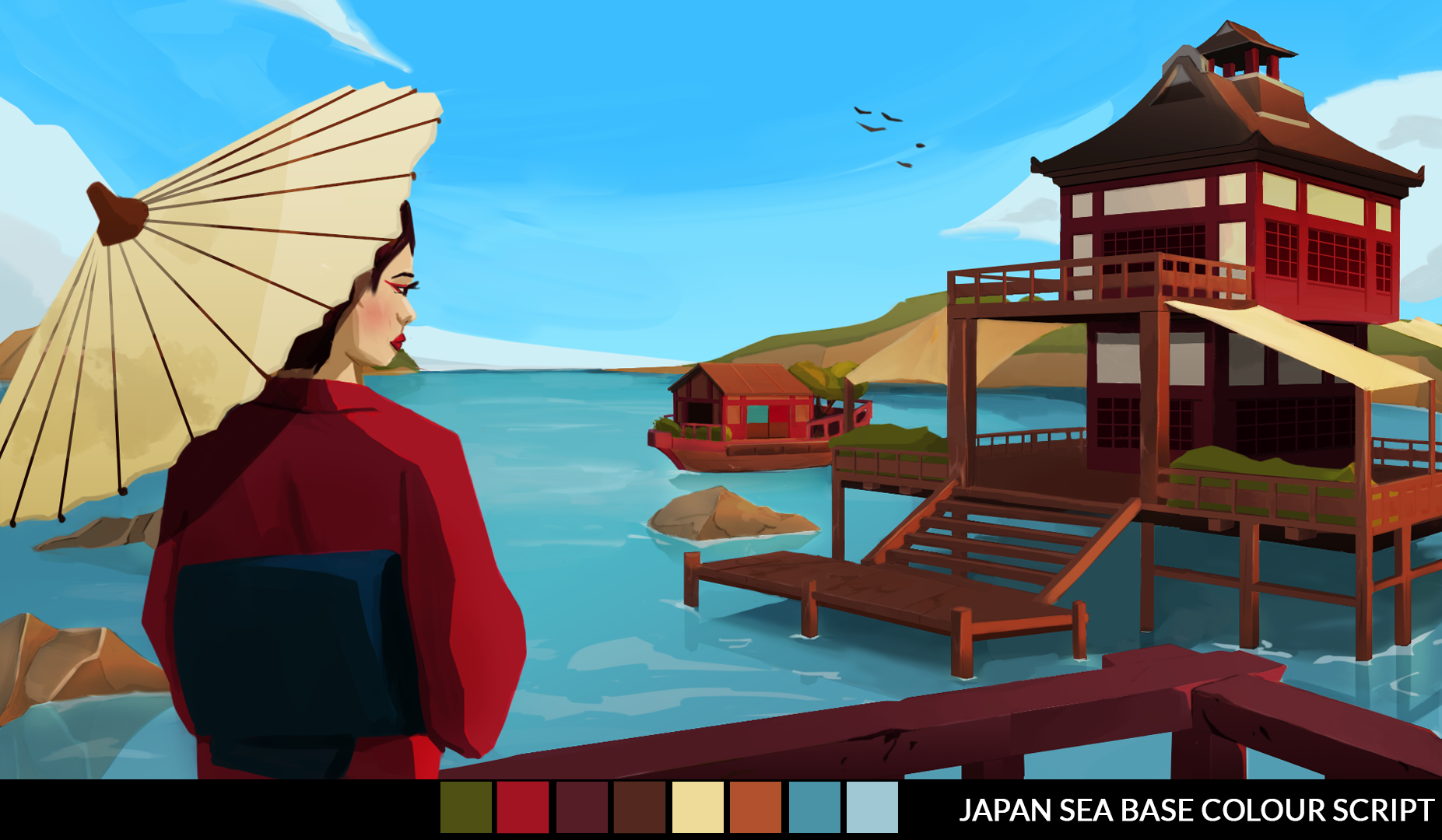 Japanese Sea Base Colour Script