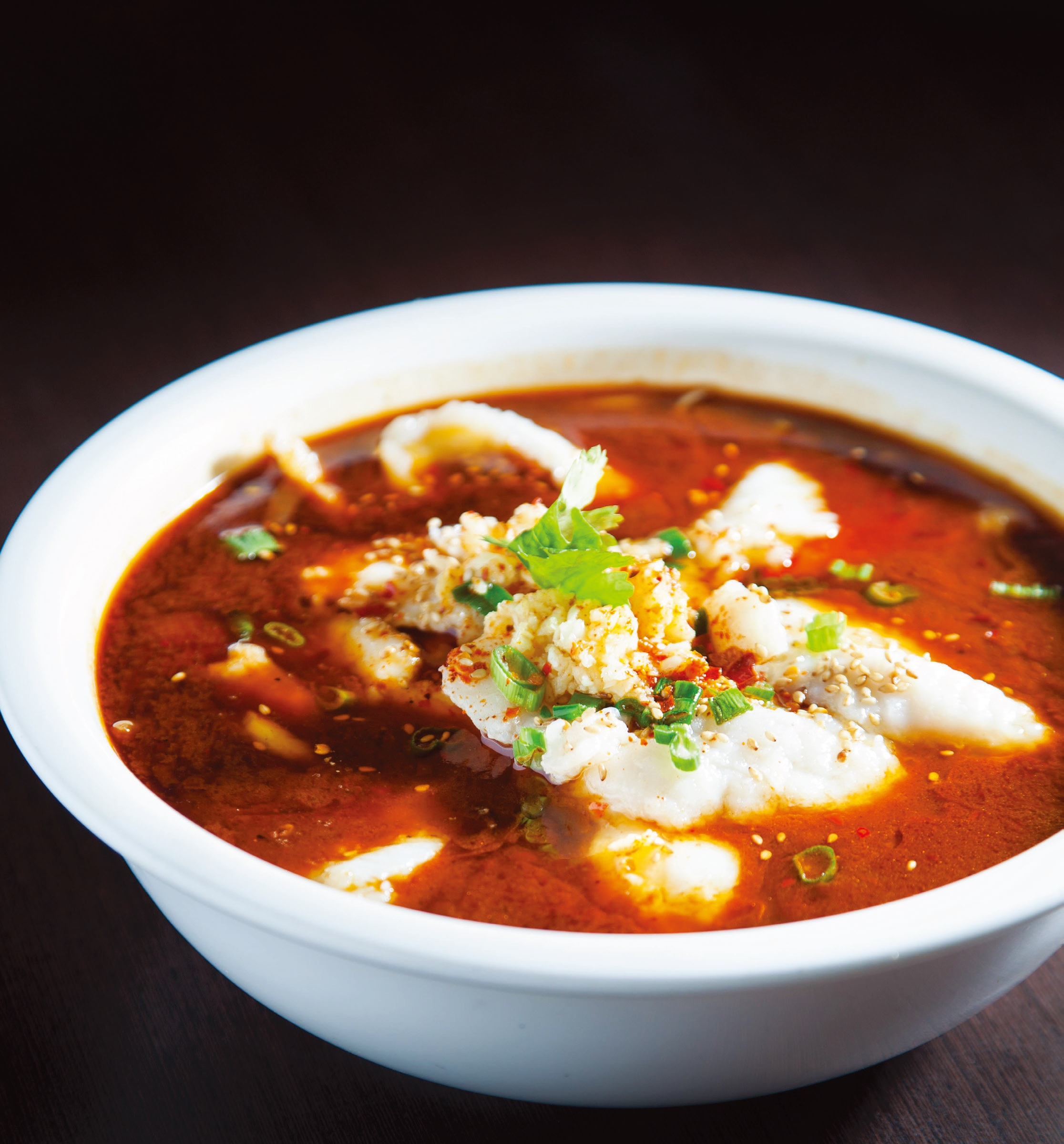 Hot & spicy basa fillet soup