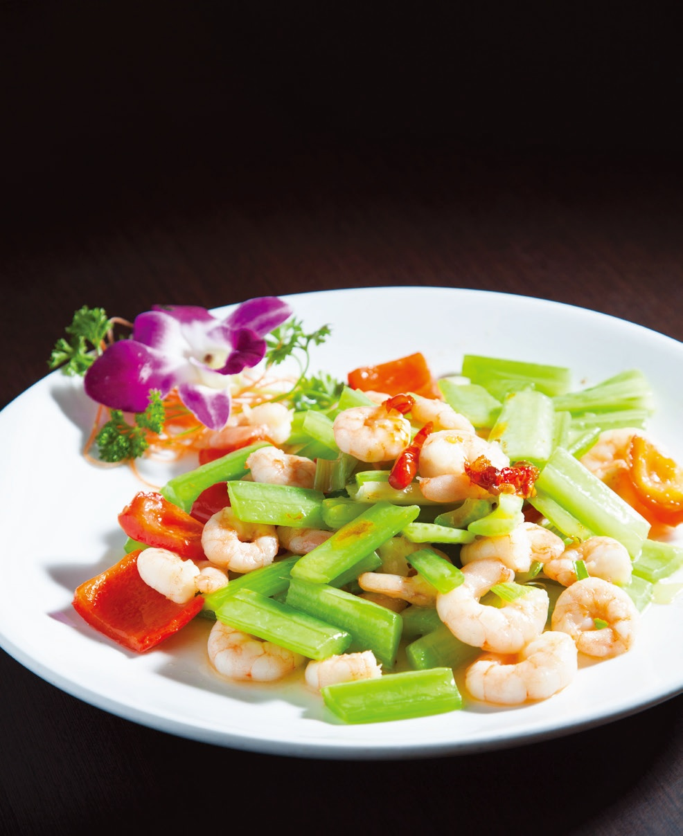 Stir fried prawn with XO paste