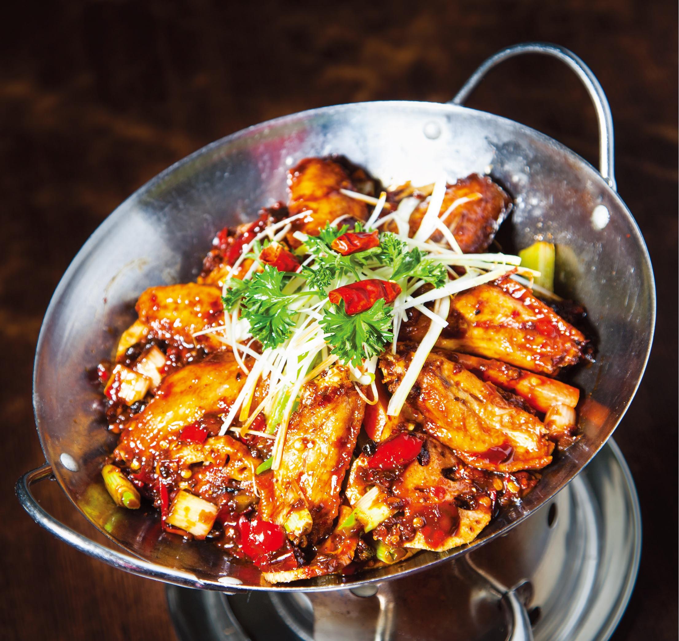 Stir fried spicy chicken wings